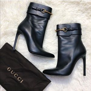 Gucci Horsebit Black Boots (gently used)